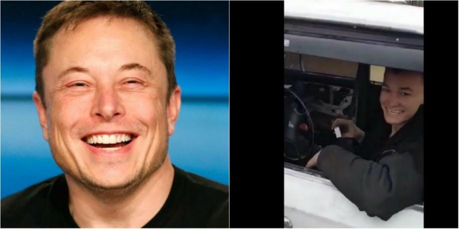 """(video) """"хаха офигенно"""". Elon Musk a reacționat pe Twitter la Jiguliul remodelat de tânărul din Rusia"""