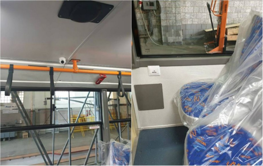 (foto) Camere de luat vederi și prize USB. Cum vor arăta noile  troleibuze asamblate de Regia Transport Electric