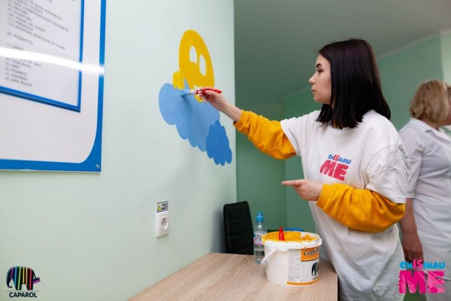 (foto) Chișinău Is ME continuă să aducă culoare. Cum arată acum Spitalul Clinic Municipal pentru copii nr.1