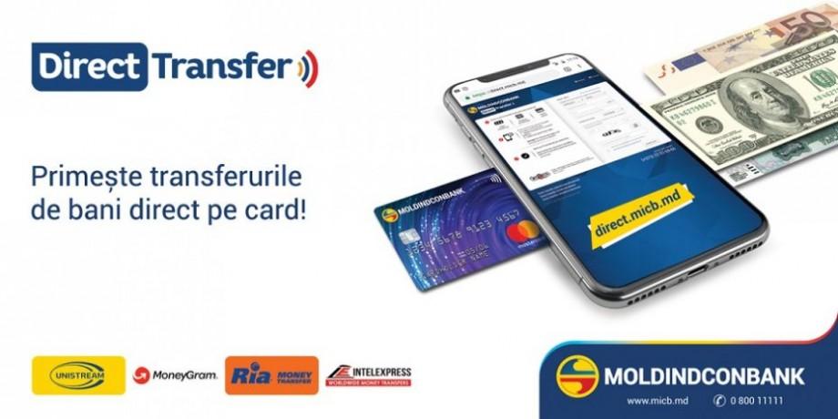 Acum poți primi transferurile MoneyGram direct pe cardul Moldindconbank!